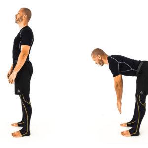 Stiff-legged hip hinge cover
